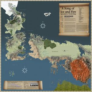 Song of ice and fire map