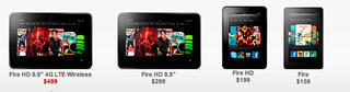 Kindle fire family